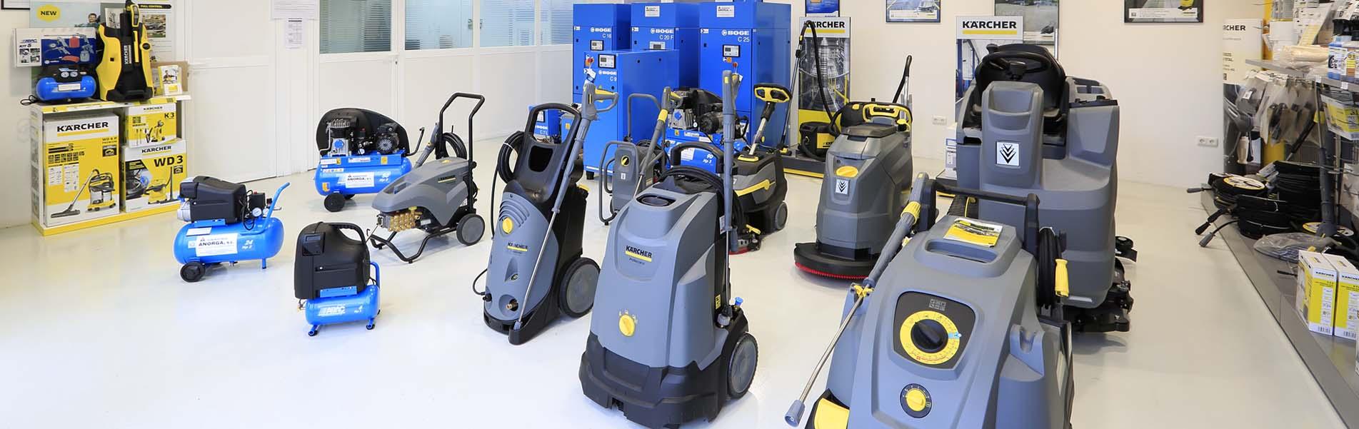 Alquiler de maquinaria y equipos de limpieza industrial en Guipúzcoa