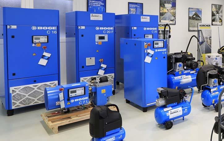 Venta de maquinaria de limpieza industrial y compresores de aire